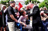 2011 Lourdes Pilgrimage - Archbishop Dolan with Malades (211/267)