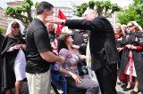 2011 Lourdes Pilgrimage - Archbishop Dolan with Malades (214/267)