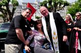 2011 Lourdes Pilgrimage - Archbishop Dolan with Malades (215/267)