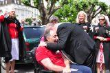 2011 Lourdes Pilgrimage - Archbishop Dolan with Malades (216/267)
