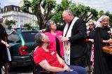 2011 Lourdes Pilgrimage - Archbishop Dolan with Malades (217/267)