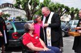 2011 Lourdes Pilgrimage - Archbishop Dolan with Malades (218/267)