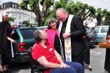 2011 Lourdes Pilgrimage - Archbishop Dolan with Malades (219/267)