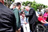 2011 Lourdes Pilgrimage - Archbishop Dolan with Malades (222/267)