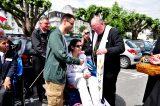 2011 Lourdes Pilgrimage - Archbishop Dolan with Malades (224/267)