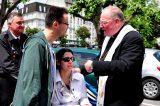 2011 Lourdes Pilgrimage - Archbishop Dolan with Malades (225/267)