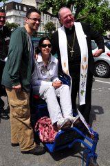 2011 Lourdes Pilgrimage - Archbishop Dolan with Malades (228/267)