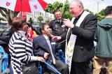 2011 Lourdes Pilgrimage - Archbishop Dolan with Malades (230/267)