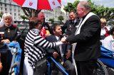 2011 Lourdes Pilgrimage - Archbishop Dolan with Malades (232/267)