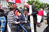 2011 Lourdes Pilgrimage - Archbishop Dolan with Malades (233/267)