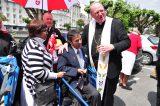 2011 Lourdes Pilgrimage - Archbishop Dolan with Malades (234/267)