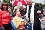 2011 Lourdes Pilgrimage - Archbishop Dolan with Malades (236/267)