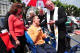 2011 Lourdes Pilgrimage - Archbishop Dolan with Malades (237/267)