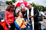 2011 Lourdes Pilgrimage - Archbishop Dolan with Malades (238/267)