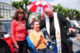 2011 Lourdes Pilgrimage - Archbishop Dolan with Malades (239/267)