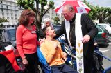 2011 Lourdes Pilgrimage - Archbishop Dolan with Malades (240/267)