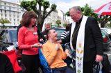 2011 Lourdes Pilgrimage - Archbishop Dolan with Malades (241/267)