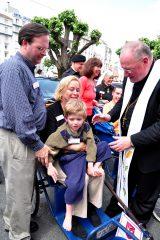 2011 Lourdes Pilgrimage - Archbishop Dolan with Malades (243/267)
