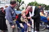 2011 Lourdes Pilgrimage - Archbishop Dolan with Malades (246/267)