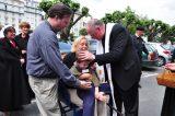 2011 Lourdes Pilgrimage - Archbishop Dolan with Malades (247/267)