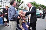 2011 Lourdes Pilgrimage - Archbishop Dolan with Malades (249/267)