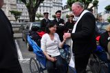 2011 Lourdes Pilgrimage - Archbishop Dolan with Malades (250/267)