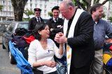 2011 Lourdes Pilgrimage - Archbishop Dolan with Malades (251/267)