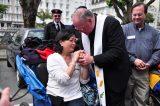 2011 Lourdes Pilgrimage - Archbishop Dolan with Malades (252/267)