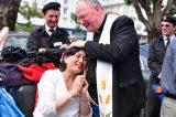 2011 Lourdes Pilgrimage - Archbishop Dolan with Malades (256/267)