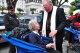 2011 Lourdes Pilgrimage - Archbishop Dolan with Malades (260/267)