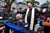 2011 Lourdes Pilgrimage - Archbishop Dolan with Malades (263/267)