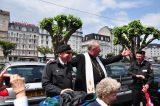 2011 Lourdes Pilgrimage - Archbishop Dolan with Malades (264/267)