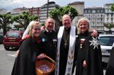 2011 Lourdes Pilgrimage - Archbishop Dolan with Malades (265/267)