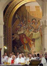 2013 Lourdes Pilgrimage - THURSDAY Rosary Basilica Mass - Tri-Association (13/16)