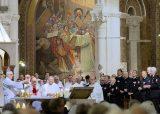 2013 Lourdes Pilgrimage - THURSDAY Rosary Basilica Mass - Tri-Association (14/16)