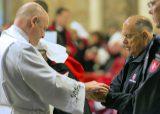 2013 Lourdes Pilgrimage - THURSDAY Rosary Basilica Mass - Tri-Association (16/16)