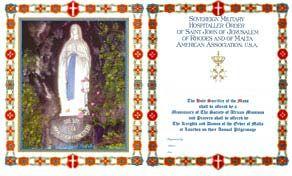 Boston Area Mass Cards | Order Of Malta American Association