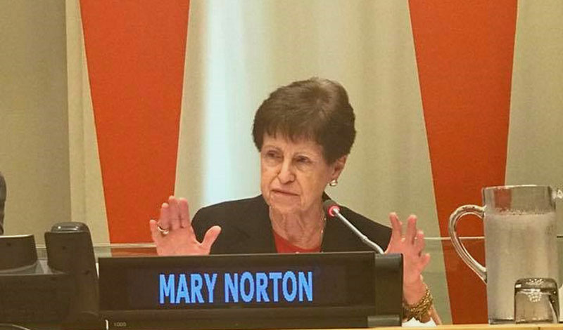 mary norton dame co-chairs un event