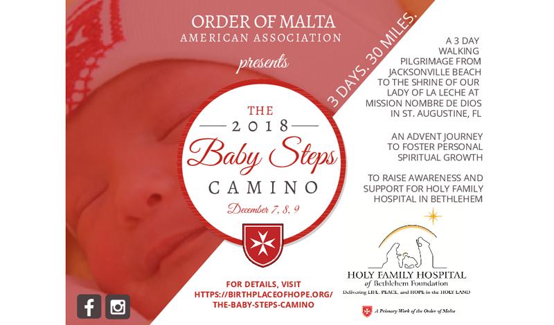 2018 Baby Steps Camino Order Of Malta American Association