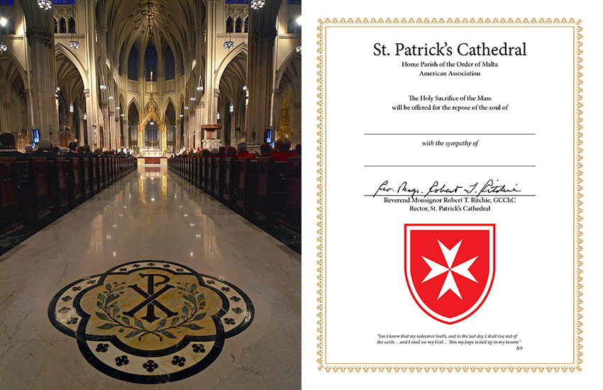 Mass Cards | Order Of Malta American Association